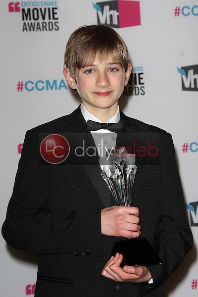 Thomas Horn<br /> at the 17th Annual Critics' Choice Movie Awards, Palladium, Hollywood, CA  01-12-12<br /> David Edwards/DailyCeleb.com 818-249-4998