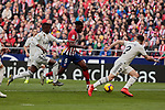 Atletico de Madrid's Thomas Teye and Real Madrid's Vinicius Jr. during La Liga match between Atletico de Madrid and Real Madrid at Wanda Metropolitano Stadium in Madrid, Spain. February 09, 2019. (ALTERPHOTOS/A. Perez Meca)
