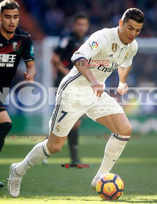 Real Madrid's Cristiano Ronaldo during La Liga match. January 7,2016. (ALTERPHOTOS/Acero) . NORTEPHOTO.COM