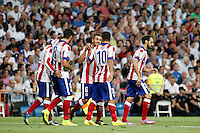 Raul Garcia, Arda Turan, Griezman, Godin, Manzukiz and Koke of Atletico de Madrid during La Liga match between Real Madrid and Atletico de Madrid at Santiago Bernabeu stadium in Madrid, Spain. September 13, 2014. (ALTERPHOTOS/Caro Marin) <br /> Football Calcio 2014/2015<br /> La Liga Spagna<br /> Foto Alterphotos / Insidefoto