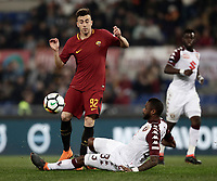 Calcio, Serie A: AS Roma - Torino Roma, stadio Olimpico, 9 marzo, 2018.<br /> Roma's Stephan El Shaarawy (l) in action with Torino's Nicolas N'Koulou (r) during the Italian Serie A football match between AS Roma and Torino at Rome's Olympic stadium, 9 marzo, 2018.<br /> UPDATE IMAGES PRESS/Isabella Bonotto