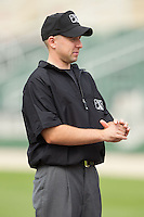 South Atlantic League umpire Rich Grassa prior to the game between the Lakewood BlueClaws and the Kannapolis Intimidators at CMC-NorthEast Stadium on July 20, 2014 in Kannapolis, North Carolina.  The Intimidators defeated the BlueClaws 7-6. (Brian Westerholt/Four Seam Images)
