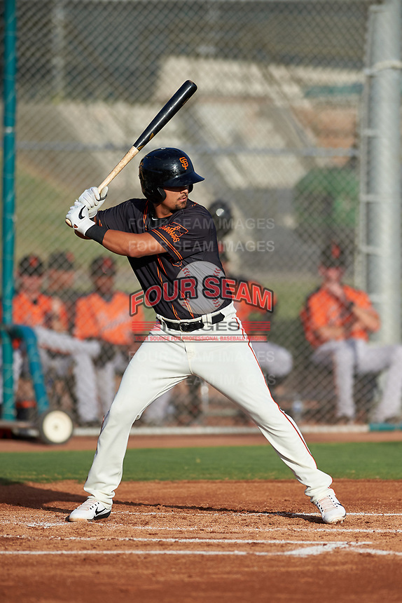 AZL Giants Black Carter Aldrete (7) at bat during an Arizona League game against the AZL Giants Orange on July 19, 2019 at the Giants Baseball Complex in Scottsdale, Arizona. The AZL Giants Black defeated the AZL Giants Orange 8-5. (Zachary Lucy/Four Seam Images)