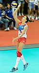 Middle blocker Meilna Rasic of Serbia in action during the FIVB Volleyball World Grand Prix - Hong Kong 2017 match between Japan and Serbia on 22 July 2017, in Hong Kong, China. Photo by Yu Chun Christopher Wong / Power Sport Images