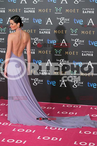 Dafne Fernandez attend the 2015 Goya Awards at Auditorium Hotel, Madrid,  Spain. February 07, 2015.(ALTERPHOTOS/)Carlos Dafonte) /NORTEphoto.com
