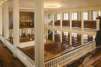 Faneuil Hall interior, Charles Bulfinch architect, Boston, MA