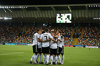 Marco Richter of Germany celebrates with team mates after scoring a goal<br /> Udine 17-06-2019 Stadio Friuli <br /> Football UEFA Under 21 Championship Italy 2019<br /> Group Stage - Final Tournament Group B<br /> Germany - Denmark<br /> Photo Cesare Purini / Insidefoto