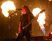 WEST PALM BEACH, FL - MAY 11: Tom Araya of Slayer performs at The Coral Sky Amphitheatre on May 11, 2019 in West Palm Beach Florida. Credit Larry Marano © 2019