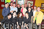 Maeve Gallagher, seated second from right, pictured on her last night working in Corkerys Bar, Killarney with colleagues and customers.   Copyright Kerry's Eye 2008