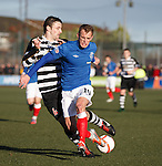 Dean Shiels taken out by East Stirling's Ricky Miller