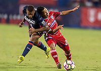 Frisco, TX. - September 13, 2016: FC Dallas takes a 4-1 lead over the New England Revolution during the 2016 U.S. Open Cup Final at Toyota Stadium.