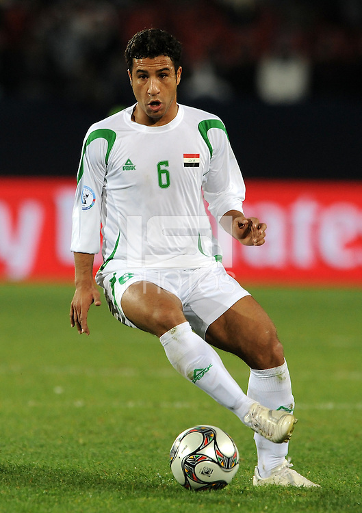 Salih Sadir of Iraq. Iraq and New Zealand tied 0-0 during the FIFA Confederations Cup at Ellis Park Stadium in Johannesburg, South Africa on June 20, 2009..