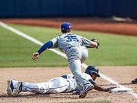 Cody Bellinger (35). Franchy Cordero (33)<br /> Acciones del partido de beisbol, Dodgers de Los Angeles contra Padres de San Diego, tercer juego de la Serie en Mexico de las Ligas Mayores del Beisbol, realizado en el estadio de los Sultanes de Monterrey, Mexico el domingo 6 de Mayo 2018.<br /> (Photo: Luis Gutierrez)