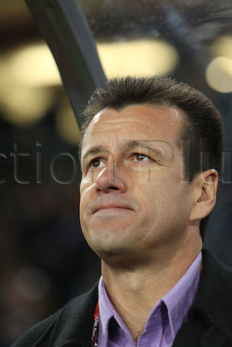 JUNE 28, 2010 - Football : 2010 FIFA World Cup South Africa Round of 16 between Brazil 3-0 Chile at Ellis Park Stadium, Johannesburg, South Africa. Dunga (BRA) watches from the sideline.