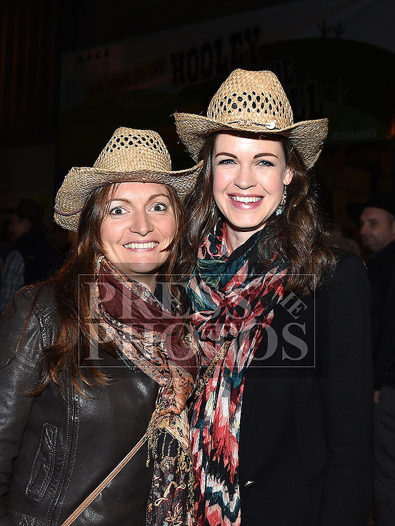 Fiona Roche and Caroline English at the Hooley on the Hill barn Dance on the Hill of Rath. Photo:Colin Bell/pressphotos.ie