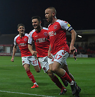 Fleetwood Town's Paddy Madden celebrates scoring his sides 1st goal<br /> <br /> Photographer Dave Howarth/CameraSport<br /> <br /> The EFL Sky Bet League One - Fleetwood Town v Sunderland - Tuesday 30th April 2019 - Highbury Stadium - Fleetwood<br /> <br /> World Copyright © 2019 CameraSport. All rights reserved. 43 Linden Ave. Countesthorpe. Leicester. England. LE8 5PG - Tel: +44 (0) 116 277 4147 - admin@camerasport.com - www.camerasport.com