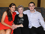 Olive Gallagher from Slane celebrating her 80th birthday in the Star and Crescent with grandchildren Karen Traynor and Rowan McDonnell. Photo: Colin Bell/pressphotos.ie