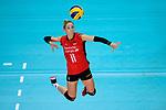 25.08.2018, …VB Arena, Bremen<br />Volleyball, LŠnderspiel / Laenderspiel, Deutschland vs. Niederlande<br /><br />Angriff Louisa Lippmann (#11 GER)<br /><br />  Foto &copy; nordphoto / Kurth