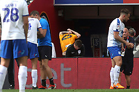 Newport's Mark O'Brien takes off his shirt as he walks to the dressing room after being shown a red card by referee, Ross Joyce during Newport County vs Tranmere Rovers, Sky Bet EFL League 2 Play-Off Final Football at Wembley Stadium on 25th May 2019