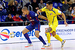 League LNFS 2017/2018 - Game 15.<br /> FC Barcelona Lassa vs Gran Canaria FS: 9-2.<br /> Ferrao vs Acaymo Martin.