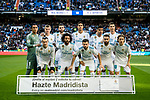 The players of Real Madrid line up and pose for photos prior to the La Liga 2017-18 match between Real Madrid and RC Deportivo La Coruna at Santiago Bernabeu Stadium on January 21 2018 in Madrid, Spain. Photo by Diego Gonzalez / Power Sport Images