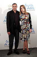 Director Abdellatif Kechiche and actress Adele Exarchopoulos attend 'La Vida De Adele' (Blue Is The Warmest Color) photocall at the Santo Mauro Hotel on October 22, 2013 in Madrid, Spain. (ALTERPHOTOS/Victor Blanco)