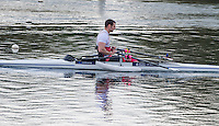 Caversham. Berkshire. UK<br /> GBR ASMM1X. Tom AGGAR,  2016 GBRowing, Para Rowing Media Day, UK GBRowing Training base near Reading, Berkshire.<br /> <br /> Friday  15/04/2016<br /> <br /> [Mandatory Credit; Peter SPURRIER/Intersport-images]