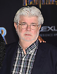 HOLLYWOOD, CA - JANUARY 29: Director/producer George Lucas attends the premiere of Disney and Marvel's 'Black Panther' at  the Dolby Theater on January 28, 2018 in Hollywood, California.