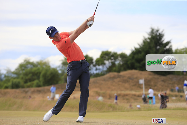 Danny WILLETT (ENG) tees off the 4th tee during Thursday's Round 1 of the 2015 U.S. Open 115th National Championship held at Chambers Bay, Seattle, Washington, USA. 6/19/2015.<br /> Picture: Golffile | Eoin Clarke<br /> <br /> <br /> <br /> <br /> All photo usage must carry mandatory copyright credit (&copy; Golffile | Eoin Clarke)
