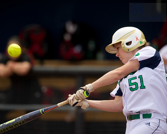 Apr. 7, 2013; Softball; Cassidy Whidden (51)<br /> <br /> Photo by Matt Cashore/University of Notre Dame