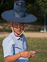 Traditioneller korwanischer Hut, Nordkorea, Asien<br /> Traditional Korean hat, North Korea, Asia