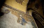 Turkey, Istanbul. Byzantine mosaic at the Ayasofya Basilica
