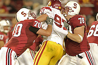 4 November 2006: Jeff Edwards and Jon Cochran during Stanford's 42-0 loss to USC at Stanford Stadium in Stanford, CA.