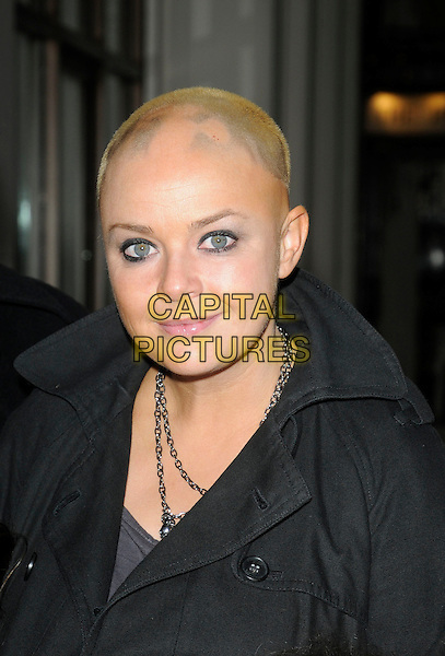 "GAIL PORTER .At ""The Princess And The Frog"" Gala Screening, Mayfair Hotel, London, England, UK, January 24th 2010..portrait headshot black eyeliner make-up silver chain necklace .CAP/CAN.©Can Nguyen/Capital Pictures"