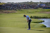Brooks Koepka (Team USA) barely misses his long putt on 10 during Saturday's foursomes of the 2018 Ryder Cup, Le Golf National, Guyancourt, France. 9/29/2018.<br /> Picture: Golffile | Ken Murray<br /> <br /> <br /> All photo usage must carry mandatory copyright credit (&copy; Golffile | Ken Murray)