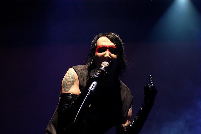 Rock musician Marilyn Manson performs at the Radar Live Festival in Istanbul, 2007. (Bora Ömerogullari/PressPhotoIntl.com)