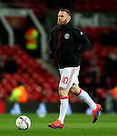 Wayne Rooney of Manchester United warms up during the UEFA Europa League match at Old Trafford, Manchester. Picture date: November 24th 2016. Pic Matt McNulty/Sportimage