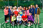 Participants at he Tralee Tennis Charity Marathon in Tralee Tennis Club on Saturday last.