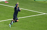 MOSCU - RUSIA, 15-07-2018: Antoine GRIEZMANN (#7) jugador de Francia celebra después de anotar el segundo gol de  su equipo a Croacia durante partido por la final de la Copa Mundial de la FIFA Rusia 2018 jugado en el estadio Luzhnikí en Moscú, Rusia. / Antoine GRIEZMANN (#7) player of France celebrates after scoring the second goal of his team to Croatia during match of the final for the FIFA World Cup Russia 2018 played at Luzhniki Stadium in Moscow, Russia. Photo: VizzorImage / Cristian Alvarez / Cont