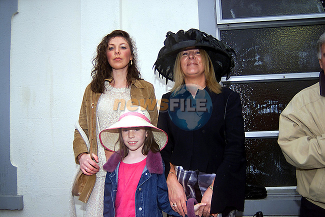 Veronica,Mary and Erikc Quinn at TheBellewstown Races...Pic Newsfile