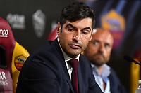 Paulo Fonseca attends his first press conference as AS Roma coach. <br /> Roma 08/07/2019 Centro Sportivo Trigoria <br /> Press Conference <br /> Football Calcio Serie A 2019/2020 <br /> Photo Andrea Staccioli / Insidefoto