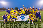Killorglin AFC celebrate as they took the honours against Camp United in the Denny Premier B League Final on Saturday night