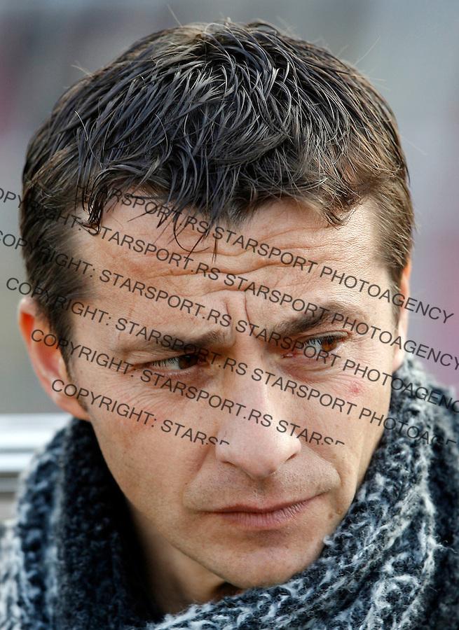 Fudbal, Kup Srbije, sezona 2007/08.Partizan Vs. Sindjelic (Nis).head coach Slavisa Jokanovic.Beograd, 19.03.2008..foto: Srdjan Stevanovic