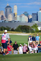 Kevin Kisner (USA) lines up his putt on 16 during round 2 Four-Ball of the 2017 President's Cup, Liberty National Golf Club, Jersey City, New Jersey, USA. 9/29/2017.<br /> Picture: Golffile | Ken Murray<br /> <br /> All photo usage must carry mandatory copyright credit (&copy; Golffile | Ken Murray)
