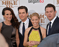 Andie MacDowell (left), Matt Bomer, Elizabeth Banks &amp; Channing Tatum at the world premiere of their movie &quot;Magic Mike XXL&quot; at the TCL Chinese Theatre, Hollywood.<br /> June 25, 2015  Los Angeles, CA<br /> Picture: Paul Smith / Featureflash