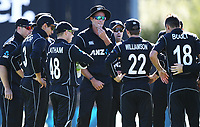 Tim Southee and team mates.<br /> New Zealand Black Caps v England, ODI series, University Oval in Dunedin, New Zealand. Wednesday 7 March 2018. &copy; Copyright Photo: Andrew Cornaga / www.Photosport.nz