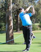 Marcus Fraser (AUS) on the 2nd tee during Round 1 of the ISPS HANDA Perth International at the Lake Karrinyup Country Club on Thursday 23rd October 2014.<br /> Picture:  Thos Caffrey / www.golffile.ie