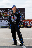 Sept. 1, 2013; Clermont, IN, USA: NHRA funny car driver Robert Hight during qualifying for the US Nationals at Lucas Oil Raceway. Mandatory Credit: Mark J. Rebilas-