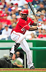 15 August 2010: Washington Nationals outfielder Roger Bernadina in action against the Arizona Diamondbacks at Nationals Park in Washington, DC. The Nationals defeated the Diamondbacks 5-3 to take the rubber match of their 3-game series. Mandatory Credit: Ed Wolfstein Photo