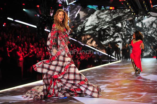 NEW YORK, NY - NOVEMBER 08: Behati Prinsloo at the 2018 Victoria's Secret Fashion Show at Pier 94 on November 8, 2018 in New York City. Credit: John Palmer/MediaPunch